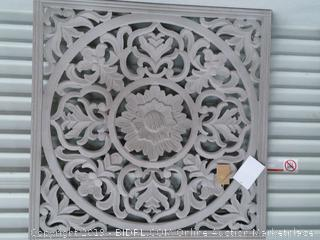 Zaria Square Medallion, Large, Distressed Grey (online $79)