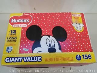 Huggies Disney Snug & Dry Diapers Size 4 (22-37 LBS)