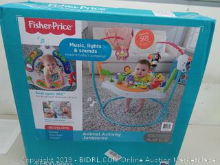 Fisher-Price Baby Jumper with Music, Lights & Sounds - Animal Activity Jumperoo