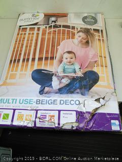 Summer Infant Multi Use Beige Deco Extra Tall Walk Through Gate