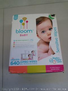 Bloom Baby Sensitive Jumbo Wipes 8 packs of 80