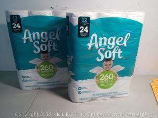 Angel Soft Toilet Rolls- Two packs