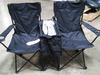 Double Chair with Cooler Section and Umbrella!