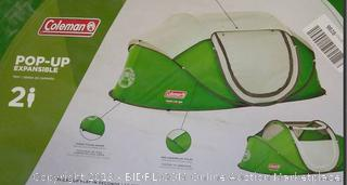 Coleman Pop-up Expandable 2 person tent