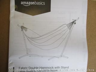 FABRIC DOUBLE HAMMOCK WITH STAND