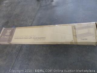 Zinus Metal Bunk Bed w/ Dual Ladders Size Twin