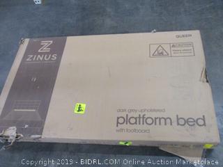 Zinus Upholstered Platform Bed Size Queen