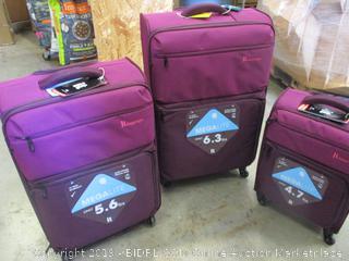 Three piece luggage set Mega lite