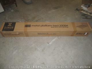 metal platform bed