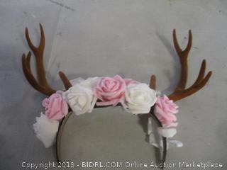 reindeer antlers headband - damaged