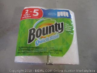 bounty quick size paper towels