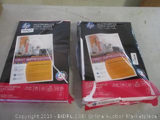 HP multipurpose white paper