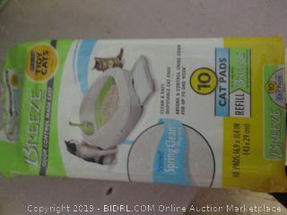 breeze odor control cat pads