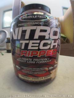 nitro-tech french vanilla swirl protein supplement