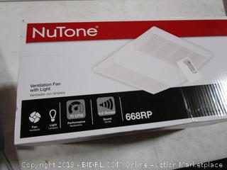 NuTone Ventialtion Fan with Light