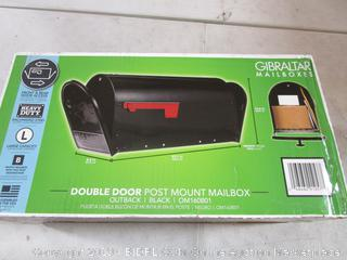 Double Door Post Mount Mailbox