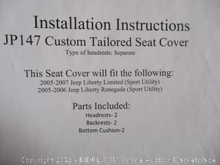 Custom Tailored Seat Cover