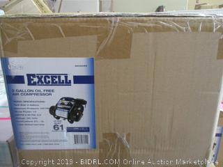 Excell 2 Gallon Oil Free Air Compressor