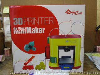 XYZ 3D Printer daVinci Mini Maker Factory Sealed