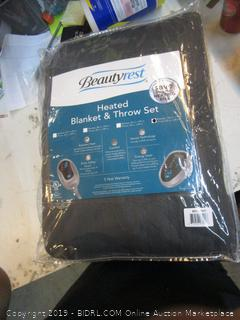 Heated Blanket & Throw Set