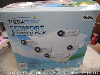"Queen 2"" Memory Foam Mattress Topper"