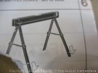 Work Shop Adjustable Sawhorse