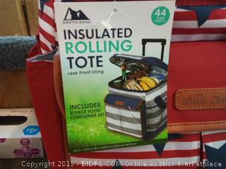 Insulated Rolling Toe with Food Containers