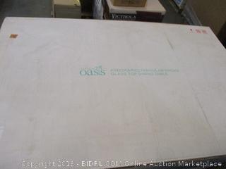 Oasis Andora Rectangular Smoke Glass Top Dining Table