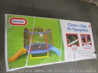 Little Tikes 7' Climb 'n Slide Trampoline