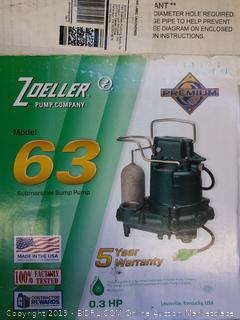Submersible Sump Pump Model 63
