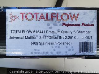 "Total Flow Premium Quality 2 Chamber Universal Muffler-2.25"""