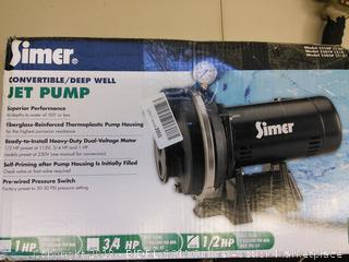 Simer Convertible/ Deep Well Jet Pump