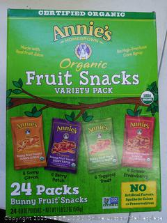 Annie's Organic Fruit Snacks Variety Pack