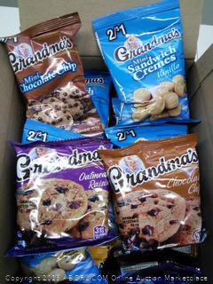 Grandma's Oatmeal Raisin, Chocolate Chip, Mini Chocolate Chip and Mini Sandwich Cremes-30 Count