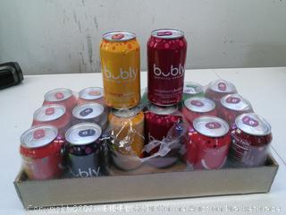 Bubly Sparkling Water 8 Flavor Sampler- 18 Pack