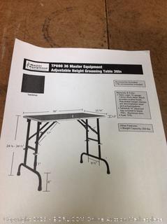 Master Equipment Adjustable Height Grooming Table (online $193)