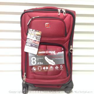 """SwissGear Sion 21"""" Burgundy Suitcase (online $73)"""