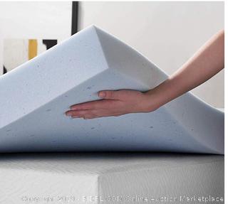 LUCID 4 Inch Gel Memory Foam Mattress Topper - Ventilated Design - Ultra Plush - Full (Online $92.99)