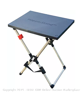 HopperStand Multi-Purpose Utility Table and Universal Bag Holder (Online $47)