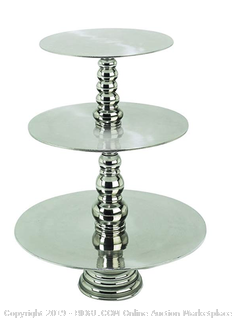 Deco 79 Aluminum 3-Tier Cake Stand, 23-Inch (Online $90)