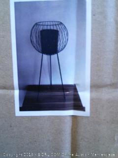 Decozen Decorative Indoor Planter with Metal Stand for Live & Faux Plants, Matte Black (Online $89.99)