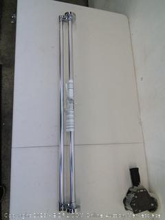 """Zenna Home NeverRust  Aluminum Shower Rod Fits Standard Shower Opening 44"""" - 72"""""""