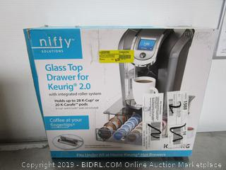 Nifty Glass Top Drawer For Keurig