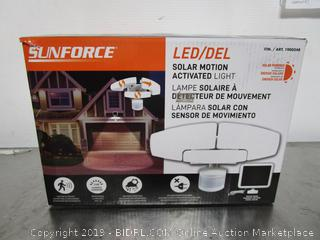 SunForce LED Solar Motion Activated Light