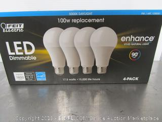 Feit Electric LED Dimmable Enhance 17.5W/100W Daylight Light Bulbs