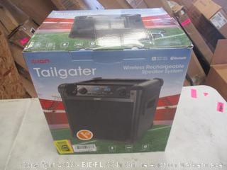 ION TAILGATER WIRELESS RECHARGEABLE SPEAKER SYSTEM (POWERS ON)