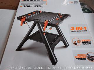 WORKX Portable Worktable, clamping system and sawhorse