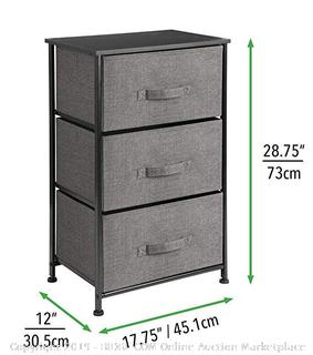 3 Drawer Storage Unit- Charcoal (Online $49.99)