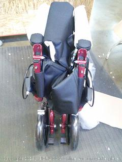 "Basic Aluminum Transport Chair 19""Seat Red Frame"