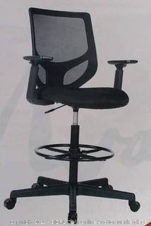 Drafting chair tall office chair, A 80217 black